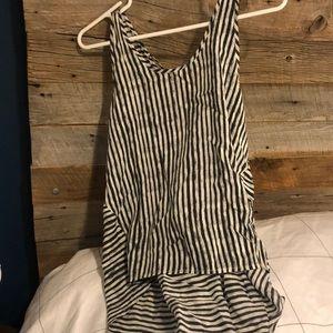 Striped blouse tank top